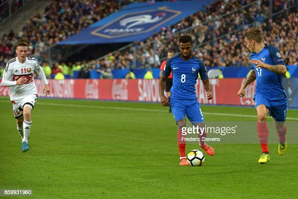 Thomas Lemar forward of France Football team during the FIFA 2018 World Cup Qualifier between France and Belarus at Stade de France on October 10...