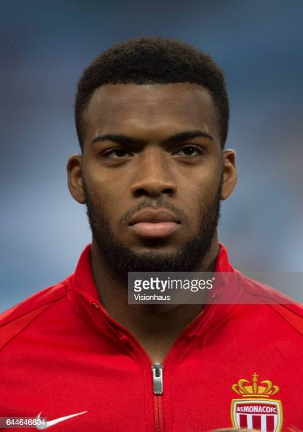 Thomas Lemar of AS Monaco before the UEFA Champions League Round of 16 first leg match between Manchester City FC and AS Monaco at Etihad Stadium on...