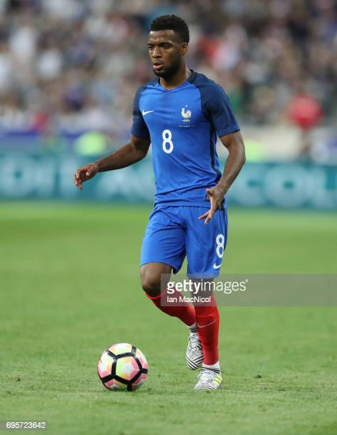 Thomas Lemar of France controls the ball during the international Friendly match between France and England at Stade de France on June 13 2017 in...