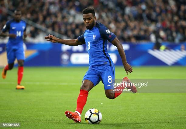 Thomas Lemar of France during the FIFA 2018 World Cup Qualifier between France and Belarus at Stade de France on October 10 2017 in Saint Denis France