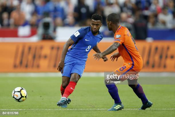 Thomas Lemar of France Georginio Wijnaldum of Holland during the FIFA World Cup 2018 qualifying match between France and Netherlands on August 31...