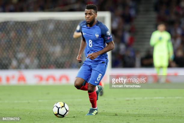 Thomas Lemar of France in action during the FIFA 2018 World Cup Qualifier between France and Luxembourg at on September 3 2017 in Toulouse France