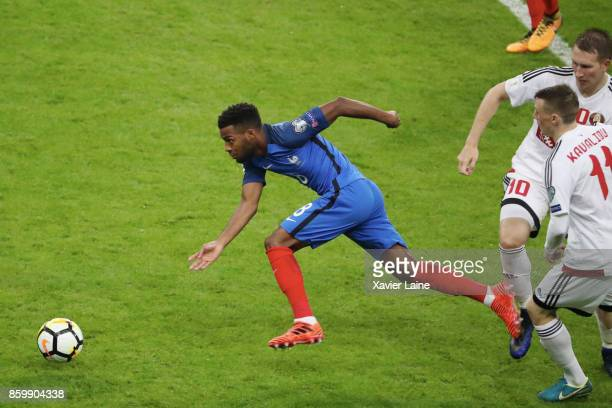 Thomas Lemar of France in action during the FIFA 2018 World Cup Qualifier between France and Netherlands at Stade de France on October 10 2017 in...