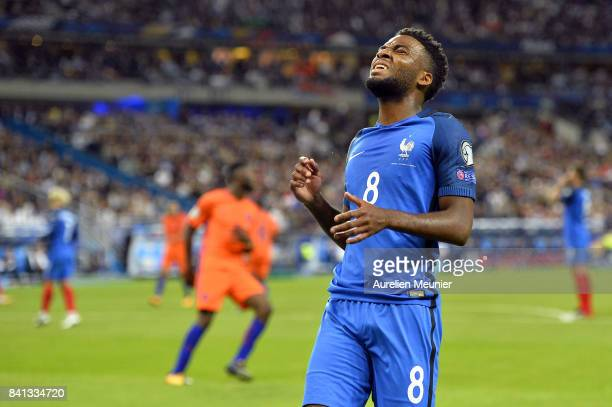 Thomas Lemar of France reacts during the FIFA 2018 World Cup Qualifier between France and The Netherlands at Stade de France on August 31 2017 in...