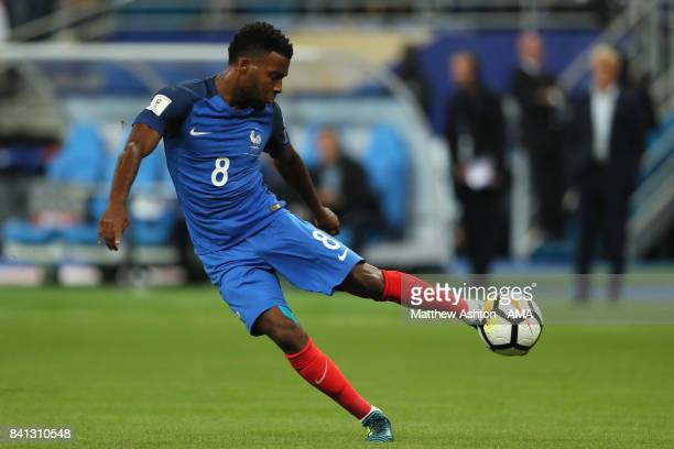 Thomas Lemar of France scores a goal to make the score 20 during the FIFA 2018 World Cup Qualifier match between France and The Netherlands at Stade...