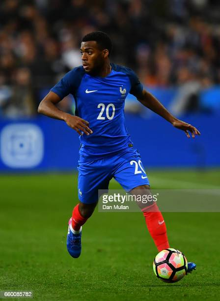 Thomas Lemar of France takes the ball forward during the International Friendly match between France and Spain at the Stade de France on March 28...