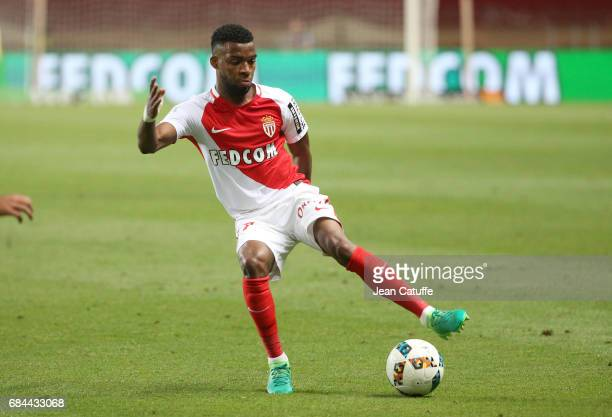 Thomas Lemar of Monaco in action during the French Ligue 1 match between AS Monaco and AS SaintEtienne at Stade Louis II on May 17 2017 in Monaco...