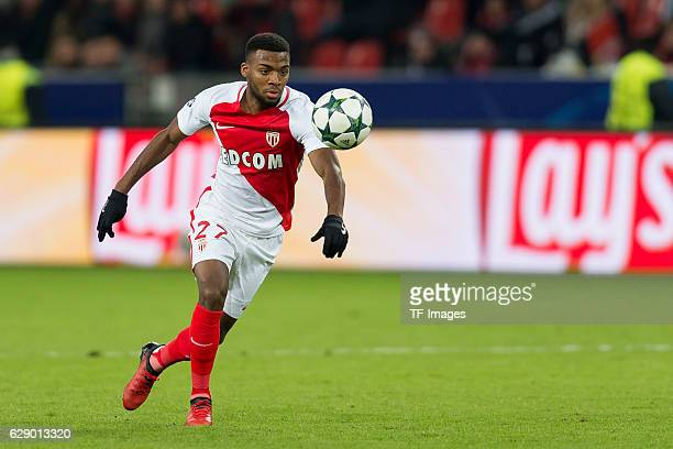Thomas Lemar of Monaco in action during the UEFA Champions League match between Bayer Leverkusen and AS Monaco at the BayArena in Leverkusen Germany...