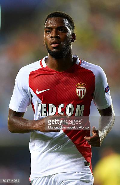 Thomas Lemar of Monaco looks on during the UEFA Champions League playoff first leg match between Villarreal CF and AS Monaco at El Madrigal on August...
