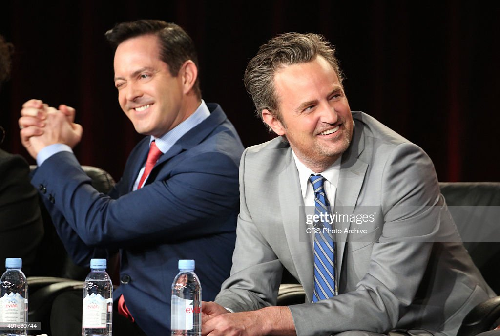 Thomas Lennon Matthew Perry at CBS' 2015 Winter TCA Session for THE ODD COUPLE at The Langham Hotel in Pasadena California