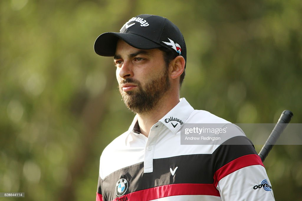 Thomas Linard of France looks on after playing a shot on the second hole during the second round of the Trophee Hassan II at Royal Golf Dar Es Salam on May 6, 2016 in Rabat, Morocco.