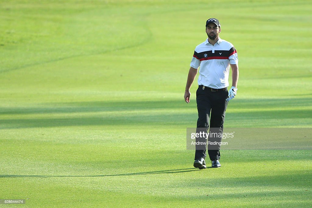 Thomas Linard of France walks up the fairway on the first hole during the second round of the Trophee Hassan II at Royal Golf Dar Es Salam on May 6, 2016 in Rabat, Morocco.