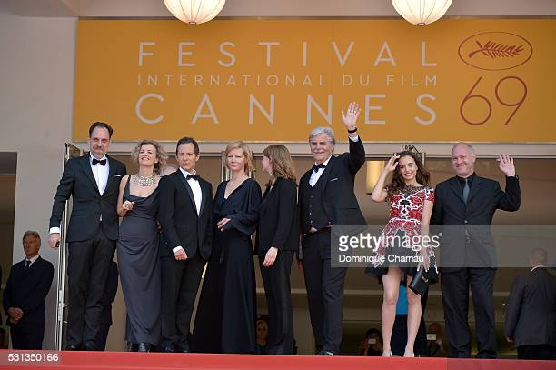 Thomas Loibl Lucy Russell Trystan Puetter Sandra Hueller Maren Ade Peter Simonischek Ingrid Bisu and Vlad Ivanov attend the 'Toni Erdmann' premiere...