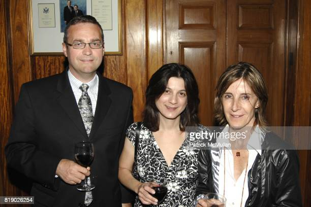 Thomas Luscher Sylvia Luscher and Maria Negroni attend The American Swiss Foundation Sixty Fifth Annual Gala Dinner at Union League Club on May 6...