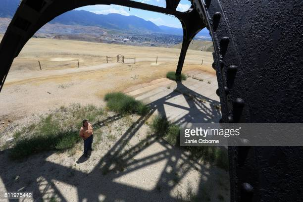 Thomas Malloy Reclamation Inspector for the ButteSilver Bow County Planning Department stands for a portrait under a gallows frame located near the...