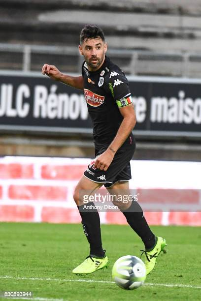 Thomas Mangani of Angers during the Ligue 1 match between Amiens SC and Angers SCO at Stade de la Licorne on August 12 2017 in Amiens