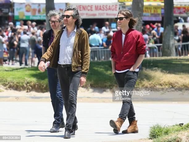 Thomas Mars Christian Mazzalai and Laurent Brancowitzi of Phoenix celebrate the release of their new album 'Ti Amo' on June 09 2017 in Venice Beach...