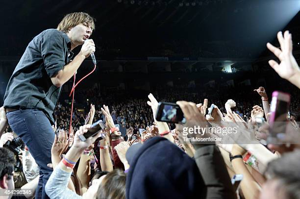 Thomas Mars of Phoenix performs as part of Live 105's Not So Silent Night at Oracle Arena on December 7 2013 in Oakland California