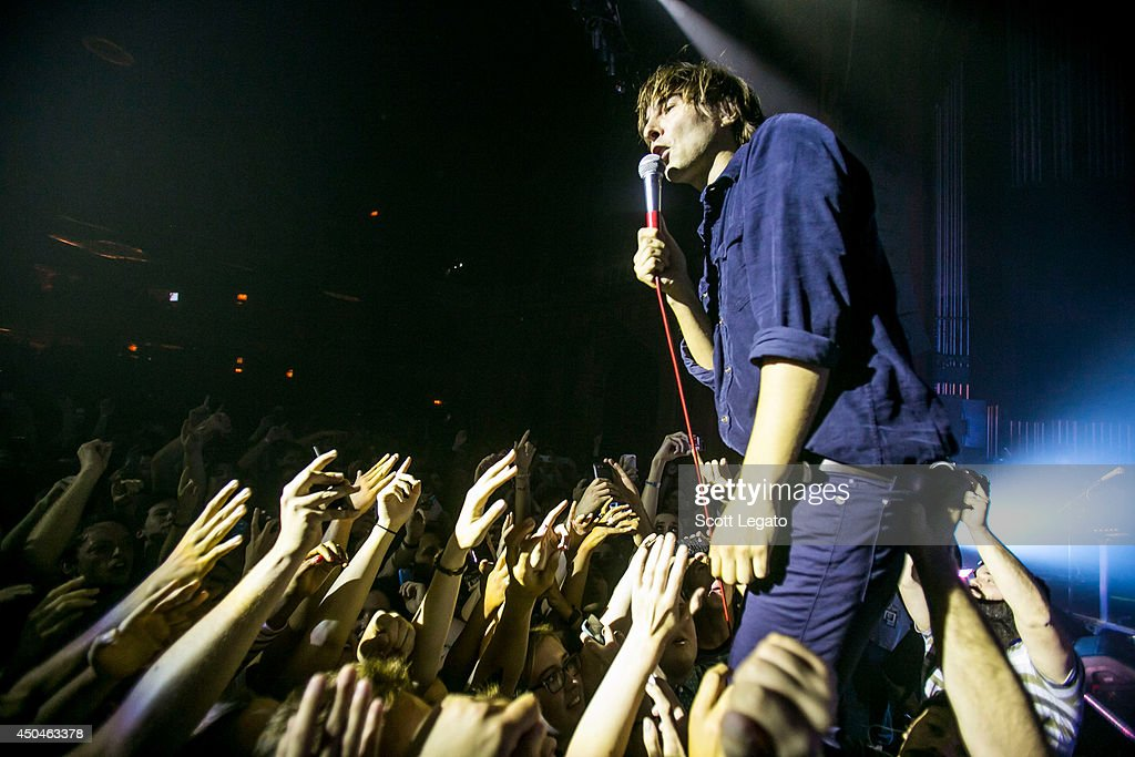 <a gi-track='captionPersonalityLinkClicked' href=/galleries/search?phrase=Thomas+Mars&family=editorial&specificpeople=601095 ng-click='$event.stopPropagation()'>Thomas Mars</a> of Phoenix performs at The Fillmore on June 11, 2014 in Detroit, Michigan.