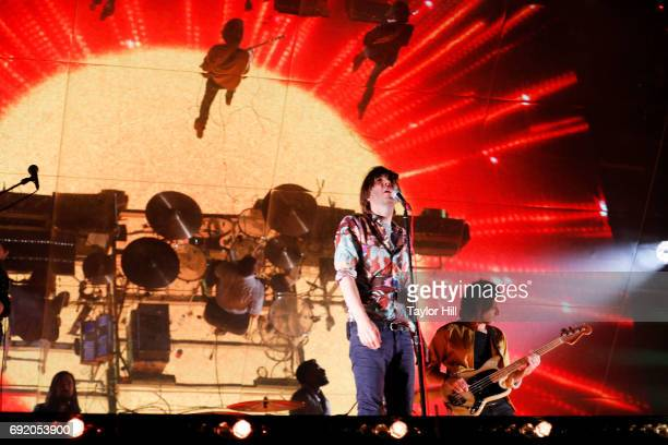Thomas Mars of Phoenix performs live onstage during 2017 Governors Ball Music Festival Day 2 at Randall's Island on June 3 2017 in New York City