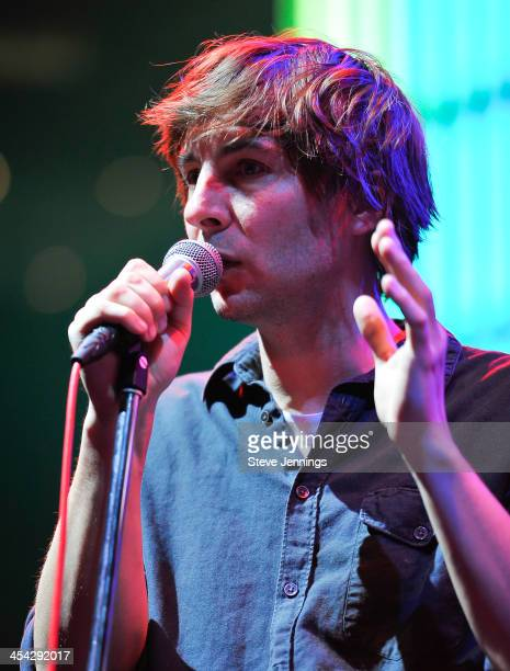 Thomas Mars of Phoenix performs on Day 2 of Live 105 'Not So Silent Night' at ORACLE Arena on December 7 2013 in Oakland California