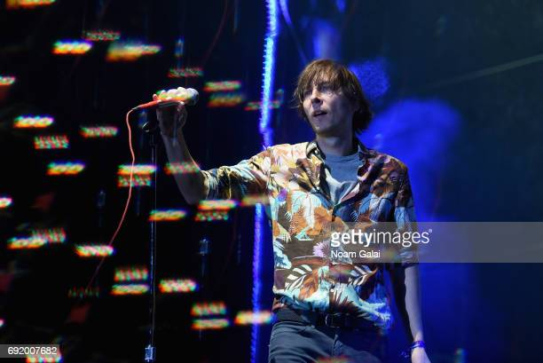 Thomas Mars of Phoenix performs onstage during the 2017 Governors Ball Music Festival Day 2 at Randall's Island on June 3 2017 in New York City