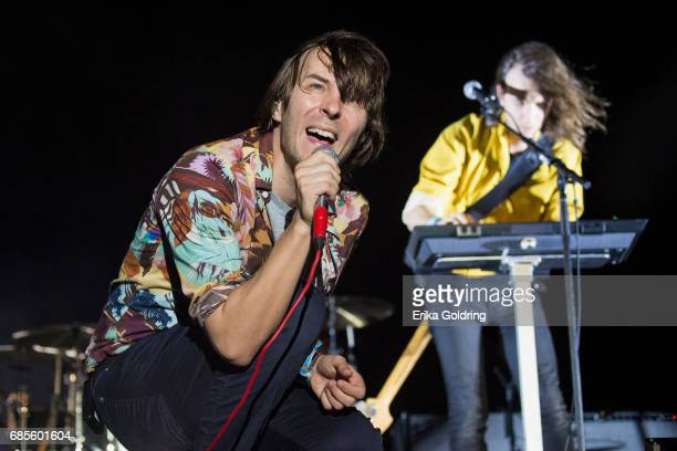 Thomas Mars of the band Phoenix performs during the 2017 Hangout Music Festival on May 19 2017 in Gulf Shores Alabama