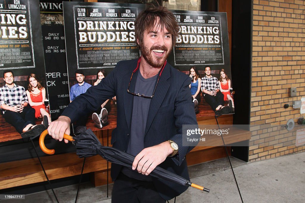 Thomas Matthews attends the 'Drinking Buddies' screening at Nitehawk Cinema on August 19, 2013 in the Brooklyn borough of New York City.