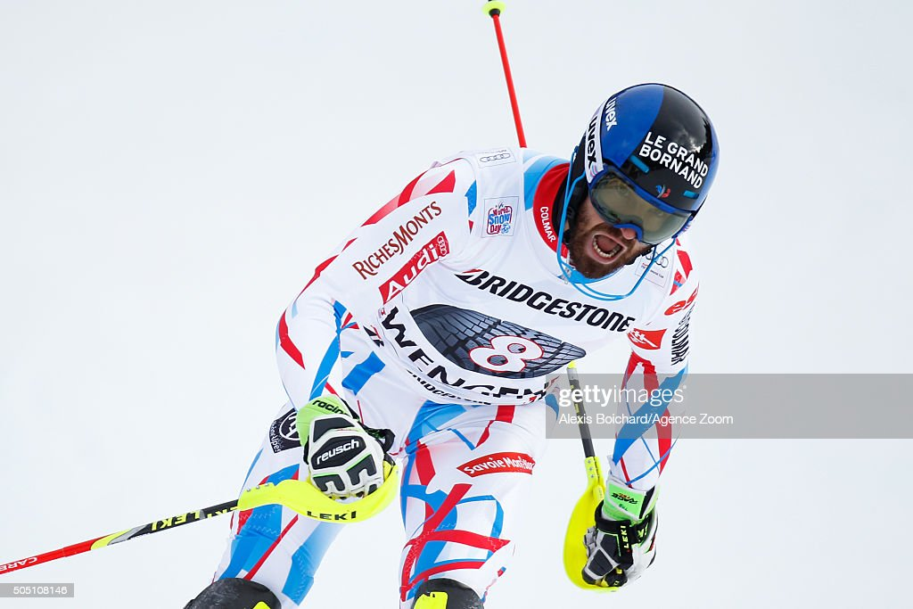 <a gi-track='captionPersonalityLinkClicked' href=/galleries/search?phrase=Thomas+Mermillod-Blondin&family=editorial&specificpeople=5679730 ng-click='$event.stopPropagation()'>Thomas Mermillod-Blondin</a> of France competes during the Audi FIS Alpine Ski World Cup Men's Super Combined on January 15, 2016 in Wengen, Switzerland.