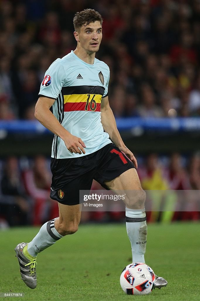 Thomas Meunier of Belgium during the UEFA EURO 2016 quarter final match between Wales and Belgium on July 2, 2016 at the Stade Pierre Mauroy in Lille, France.