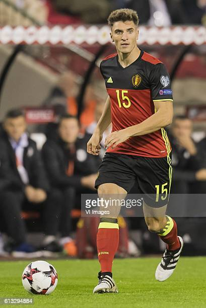 Thomas Meunier of Belgiumduring the FIFA World Cup 2018 qualifying match between Belgium and Bosnie Herzegowina on October 07 2016 at the Koning...