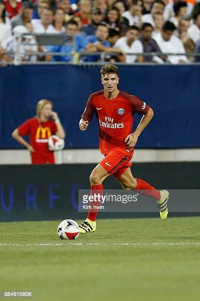 Thomas Meunier of Paris SaintGermain FC controls the ball during the game against Paris SaintGermain FC on July 27 2016 at Ohio Stadium in Columbus...