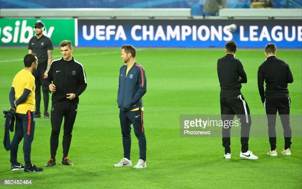 Thomas Meunier of PSG pictured during a walk on the pitch a day before UEFA Champion League match group B between RSC Anderlecht and Paris Saint...