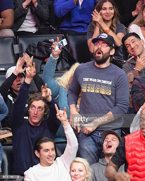 Thomas Middleditch and Martin Starr attend a basketball game between the Memphis Grizzlies and the Los Angeles Clippers at Staples Center on November...