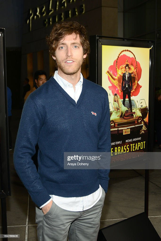 Thomas Middleditch arrives at the LA screening of Magnolia Pictures' 'The Brass Teapot' at ArcLight Hollywood on March 21, 2013 in Hollywood, California.