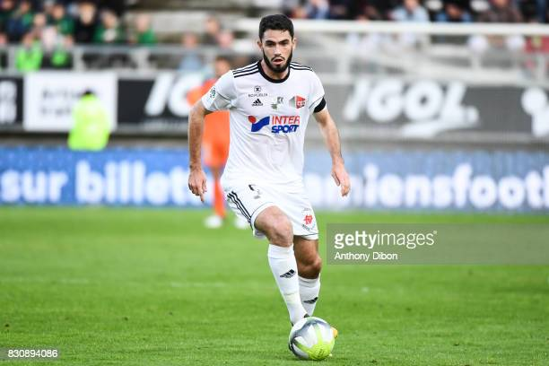 Thomas Monconduit of Amiens during the Ligue 1 match between Amiens SC and Angers SCO at Stade de la Licorne on August 12 2017 in Amiens