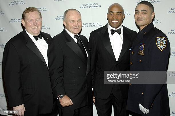 Thomas Moran Commissioner Raymond Kelly Tiki Barber and Angel Cruz attend NEW YORK CITY POLICE FOUNDATION 30th Annual Gala at Waldorf Astoria on...