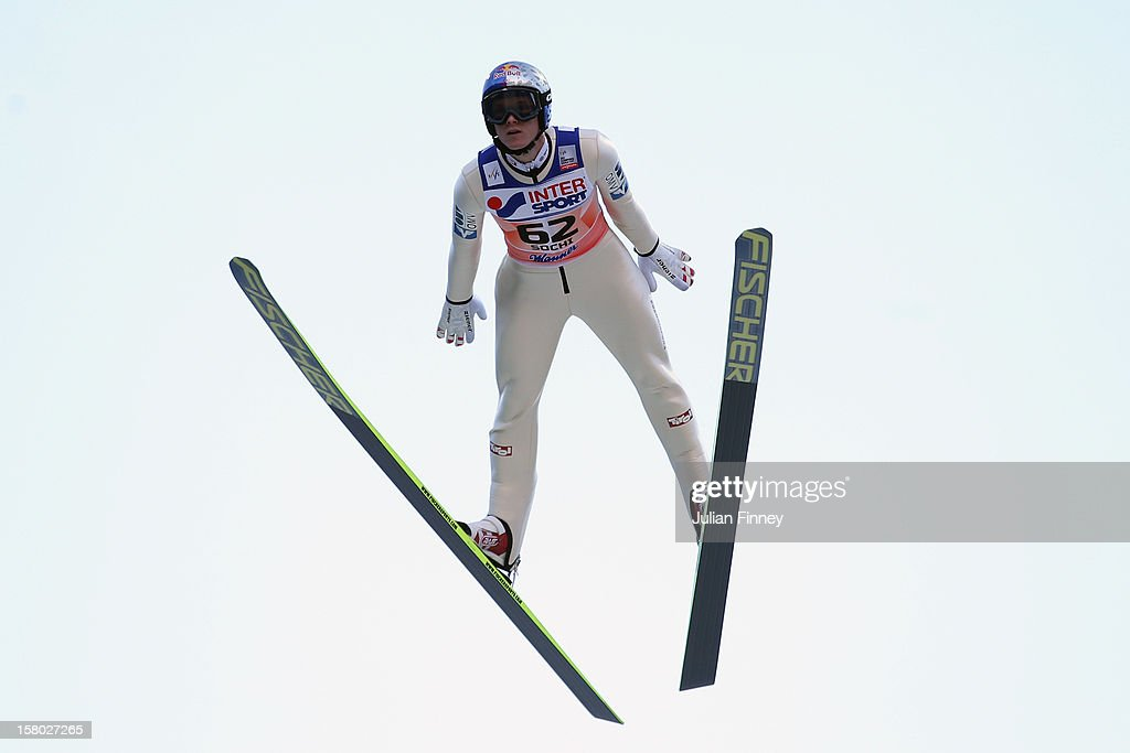 Thomas Morgenstern of Austria competes in a Ski Jump during the FIS Ski Jumping World Cup at the RusSki Gorki venue on December 9, 2012 in Sochi, Russia.