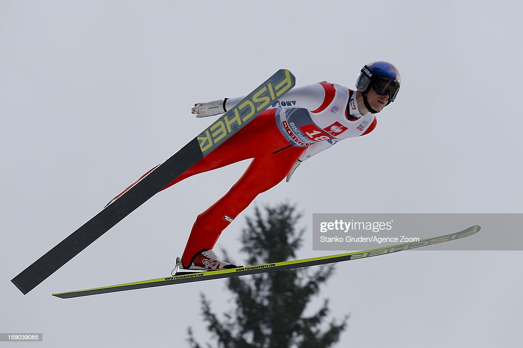 Thomas Morgenstern of Austria during the FIS Ski Jumping World Cup Vierschanzentournee (Four Hills Tournament) on January 06, 2013 in Bischofshofen, Austria.