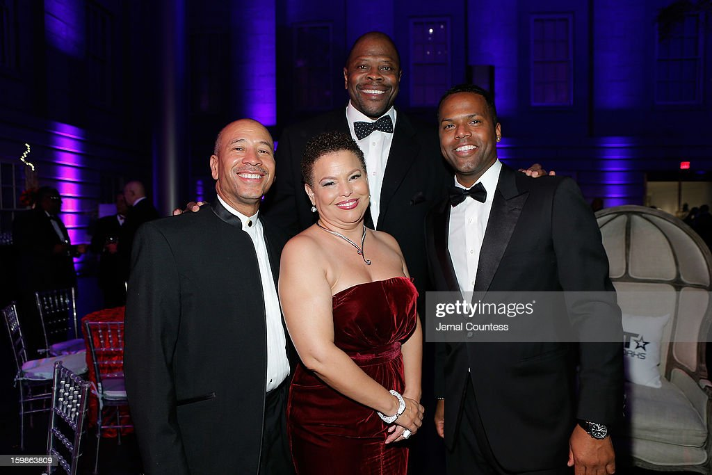 Thomas Motley, Chairman and CEO of BET Networks Debra Lee (R) Patrick Ewing and A. J. Calloway attend the Inaugural Ball hosted by BET Networks at Smithsonian American Art Museum & National Portrait Gallery on January 21, 2013 in Washington, DC.