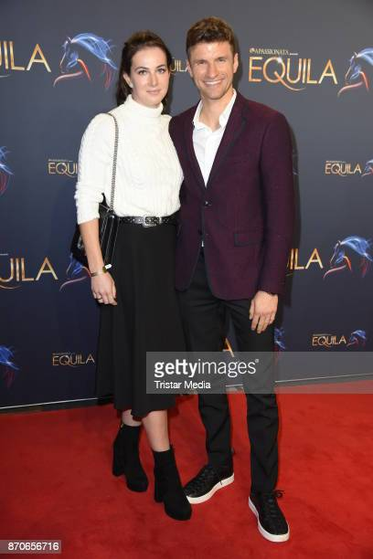 Thomas Mueller and his wife Lisa Mueller during the world premiere of the horse show 'EQUILA' at Apassionata Showpalast Muenchen on November 5 2017...