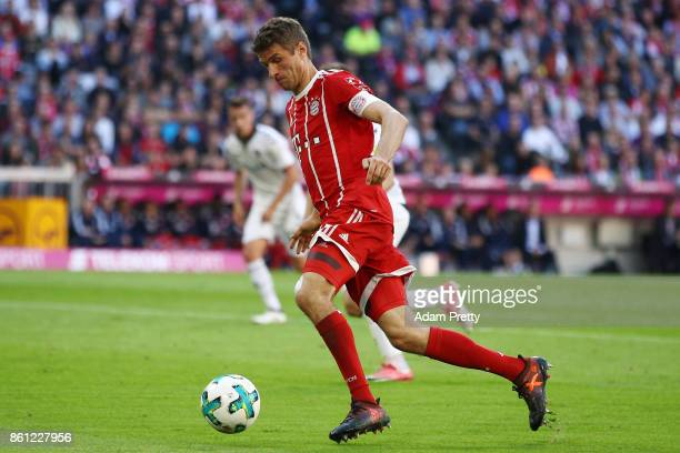 Thomas Mueller of Bayern Muenchen during the Bundesliga match between FC Bayern Muenchen and SportClub Freiburg at Allianz Arena on October 14 2017...