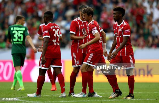 Thomas Mueller of Muenchen is seen after scoring his teams first goal during the Telekom Cup 2017 Final between SV Werder Bremen and FC Bayern...