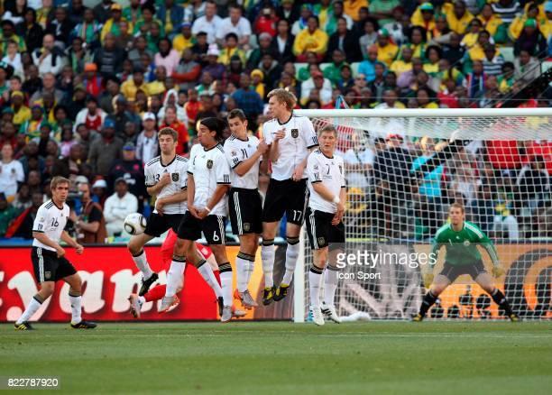 Thomas Muller / Sami Khedira / Miroslav Klose / Per mertesacker / Bastian Schweinsteiger Allemagne / Angleterre 8eme de Finale Coupe du Monde 2010...