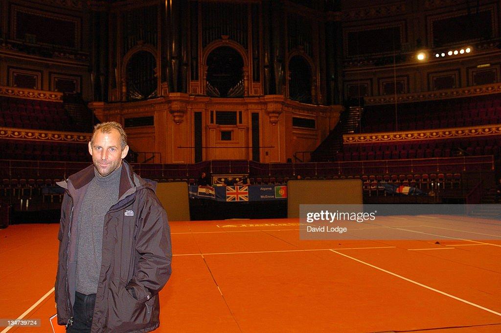 Thomas Muster during The Masters Tennis Press Conference and Photocall November 28 2005 at Royal Albert Hall in London Great Britain