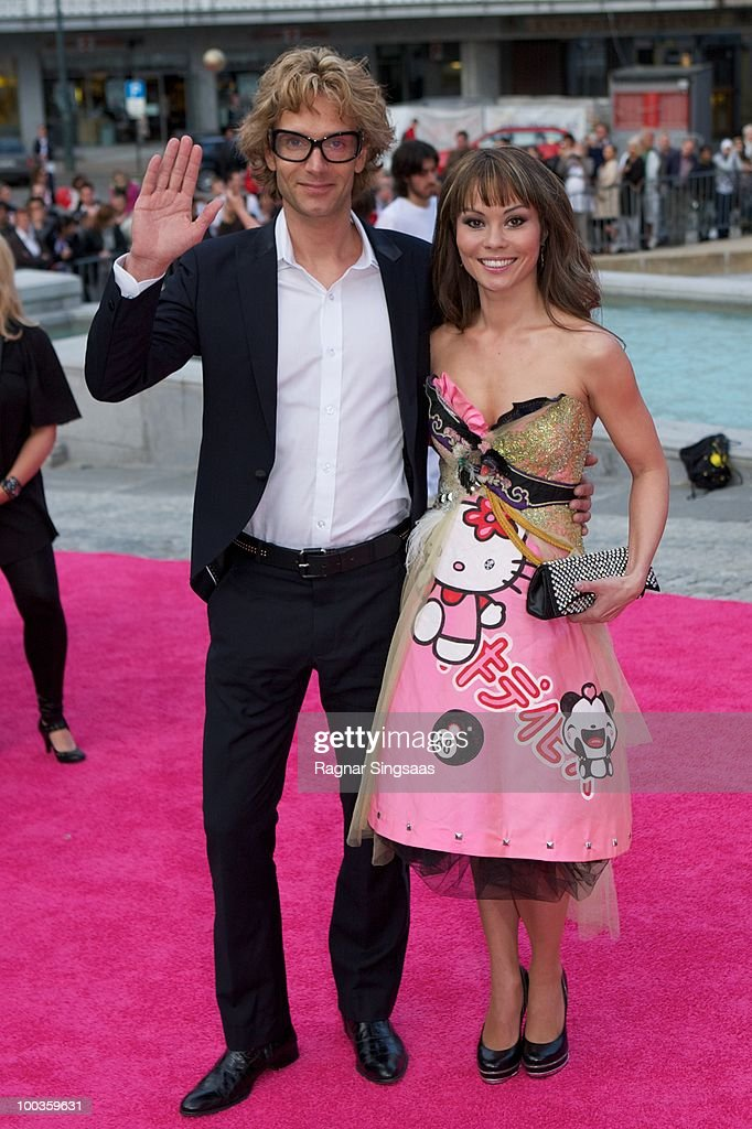 Thomas Nevergreen and Christina Chan arrive on the pink carpet at the Eurovision Official Welcome Reception on May 23, 2010 in Oslo, Norway. In all, 39 countries will take part in the 55th Annual Eurovision Song Contest. Semi-finals are scheduled to take place on May 25-27, with the Final being held on May 29, 2010.