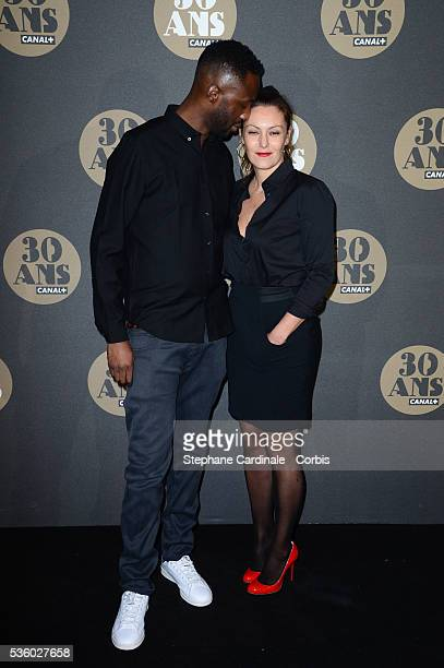 Thomas N'Gijol and Karole Rocher attend the 30 Th Anniversary of Canal at Palais de Tokyo in Paris