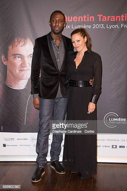 Thomas Ngijol and Karole Rocher attend the Tribute to Quentin Tarantino during the 5th Lumiere Film Festival in Lyon