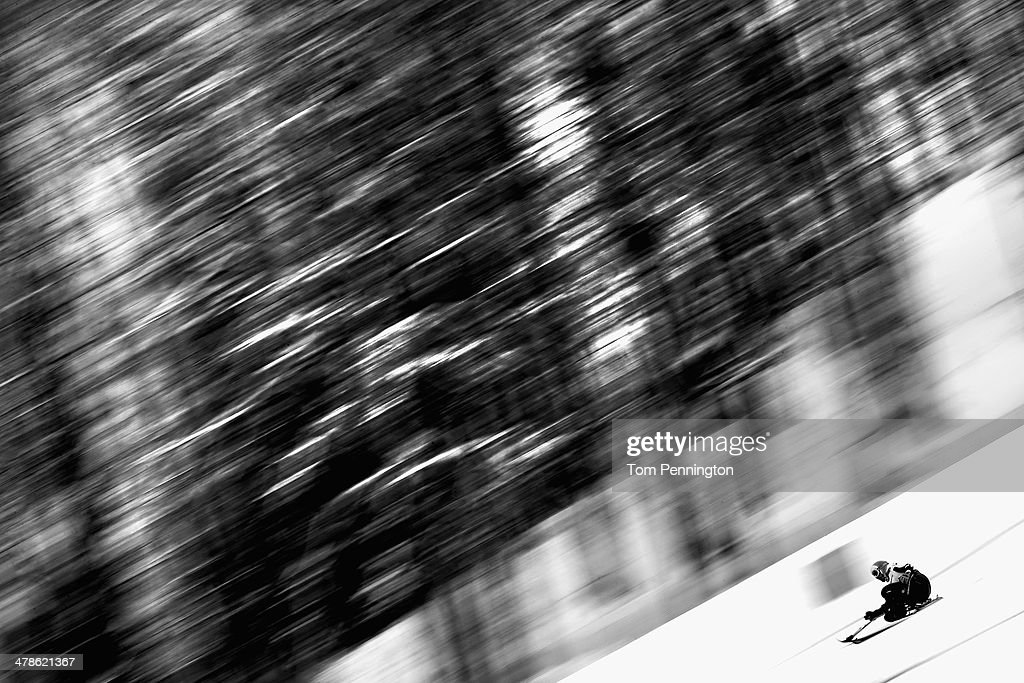 Thomas Nolte of Germany competes in the Men's Super Combined Sitting Super G during day seven of the Sochi 2014 Paralympic Winter Games at Rosa Khutor Alpine Center on March 14, 2014 in Sochi, Russia.