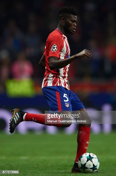 Thomas of Atletico de Madrid in action during the UEFA Champions League group C match between Atletico Madrid and AS Roma at Estadio Wanda...